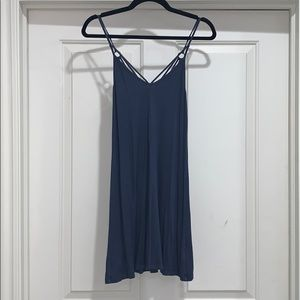 American Eagle Blue Sundress with Criss-Cross Back